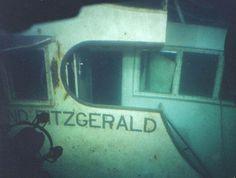 Pilot house of the sunken Edmund Fitzgerald, which sank in Lake Superior near Whitefish Point, MI