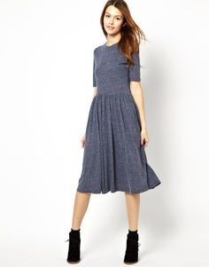 Asos Midi Dress In Nepi With 3/4 Sleeves on shopstyle.com