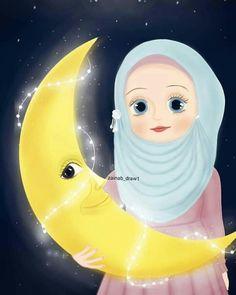 Islamic Cartoon, Ramadan Decorations, Beautiful Nature Wallpaper, Alhamdulillah, Stress Free, Beautiful Roses, Cute Wallpapers, Baby Dress, Crochet Baby
