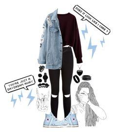 """Electric Girl"" by galaxygirl12427 ❤ liked on Polyvore featuring New Look, Converse, CLUSE, Dsquared2, West Coast Jewelry, ZENZii and Lord & Taylor"