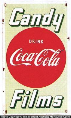 Ca. 1940's/50's  porcelain sign for Coca-Cola