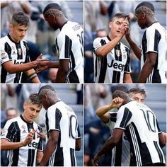 Saludo especial entre Paul Pogba y Paulo Dybala en cuatro pasos....