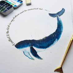 Sometimes feel like life's just not fair? Check out the story of Jonah and the sea creature. Watercolor Whale, Easy Watercolor, Watercolour Painting, Scripture Art, Bible, Whale Drawing, Sun Projects, Whale Illustration, Jonah And The Whale