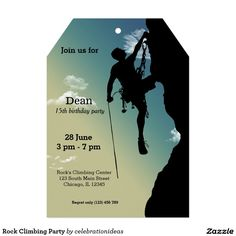 Sold #RockClimbing #sports #invitation Available in different products. Check more at www.zazzle.com/celebrationideas