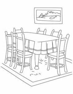 Dentist visit coloring page personal hygiene worksheets for Comedor para dibujar