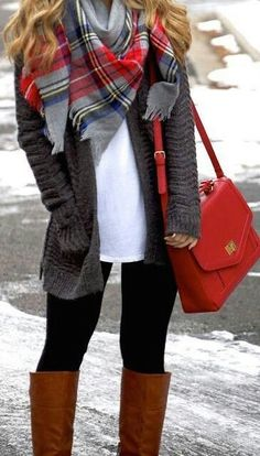 Love this plaid scarf