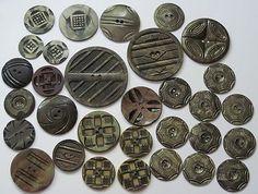 Group Lot Vintage Celluloid Wafer Buttons Art Deco Carved 326 | eBay