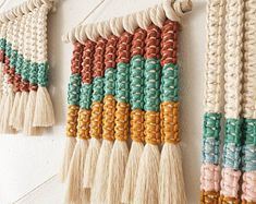 Heard It Through The Grapevine// Taupe Macrame Wall Hanging Bohemian Crafts, String Wall Art, Black Wrapping Paper, Macrame Wall Hanging Diy, Macrame Cord, Creative Crafts, Hippy, Creativity, Arts And Crafts