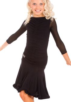 DSI Maddie Juvenile Latin Dance Dress 1090JL | Dancesport Fashion @ DanceShopper.com