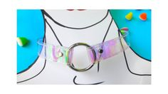 O-ring Rivet Chocker Clear PVC holographic 90s by YPSILONBAGS