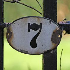cute as a house number on a gate