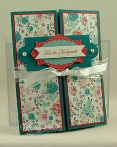 Layered Labels Wedding Box Card (Fancy Folds) with instructions and measurements - Mickey Roberts