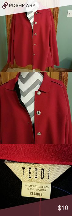 TEDDI LIGHT WEIGHT JACKET!!! Really nice light weight but warm jacket... the material is super soft this was worn one time in great condition.. don't forget I can do measurements on my items... teddi Jackets & Coats