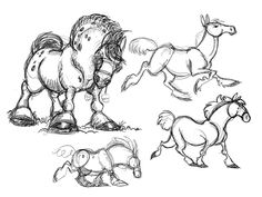 Horse sketches - April by *killskerry on deviantART