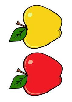 Pommes jaune et rouge pour jeux de motricité