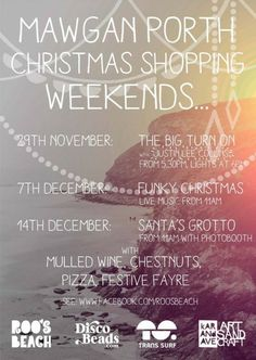 #MawganPorth #Cornwall Christmas weekends. Come and join the fun.