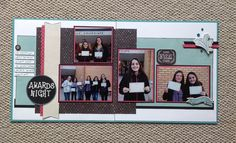 CTMH - using papers from Blossom, Chalk It Up and Jackson school layout