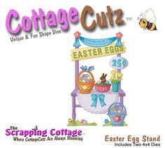 Cottage Cutz-4x4 Dies-Easter Egg Stand (double die)