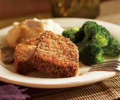 Fried Meatloaf Recipe - great switch-up for leftover meatloaf. Even better with mushroom gravy!