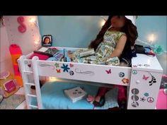 Huge My Girls Dollhouse for American Girl Dolls Tour! (2014) - YouTube