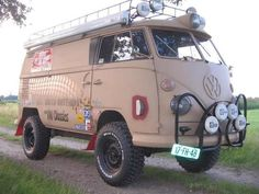 VW split bus 4x4 overland camper!! I would take this over and through ever continent possible.