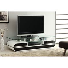 TV STAND Media Cabinet Entertainment Center Furniture Modern Glass Shelves  White | Entertainment | Pinterest | Entertainment Center Furniture, Media  Cabinet ...