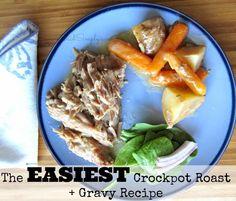 SavingSaidSimply.com: EASY Crockpot Roast + Gravy Recipe - Under 5 minutes!