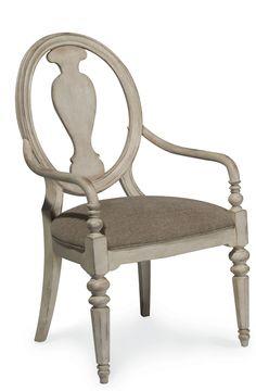 Belmar II Antique Linen Arm Chair