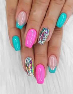 Charming Style of Gel Nail Colour for Your Finger Fancy Nails, Pink Nails, Pretty Nails, Best Acrylic Nails, Acrylic Nail Designs, Nail Art Designs, Dope Nails, Swag Nails, Gel Nail Colors