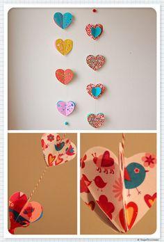 Hearts garland - Guirnalda de corazones