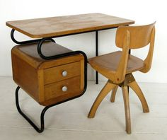 Vintage children's work desk