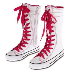 Children Kid Girl Lace Up Punk Fashion High Top Canvas Boot Sneaker Tennis Shoes #KaliFootwear #CasualShoes