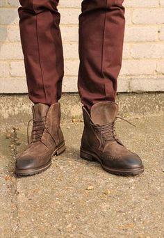Brown brogue boots   MyEdo   ASOS Marketplace