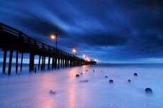 Blue Hour, Capitola Pier Sunrise - Capitola, California by Jim Patterson Photography