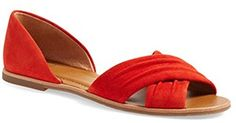 Best Flat Shoes | Franco Sarto Womens Vala Flat 75M Red Suede * Be sure to check out this awesome product. Note:It is Affiliate Link to Amazon.