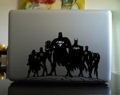 Superheroes Unite Macbook Decal - $7 | The Gadget Flow
