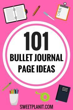 101 Bullet Journal Page Ideas | The Ultimate List of page to create to organize every aspect of your life.