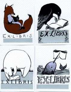 Hand Screen-printed Exlibris Book Plates