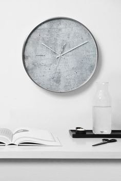 Structure Cement Clock by Cloudnola | From http://Cloudnola.me
