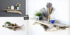 Des étagères en bois flotté! Voici 11 idées pour vous inspirer… Magnifique!