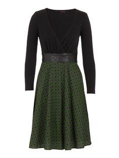 Combo Dress Green