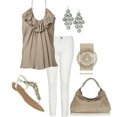 beige and white