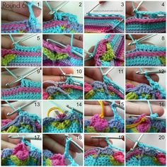 Part 7 of Sophie's Universe CAL This crochet-along is a project with step-by-step photos, video tutorials, and translations. Crochet Mandala Pattern, Crotchet Patterns, Crochet Stitches Patterns, Crochet Chart, Crochet Home, Cute Crochet, Crochet Squares Afghan, Single Crochet, Video Tutorials