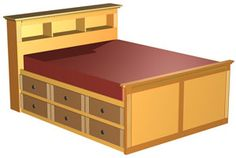 Double High Storage Bed - Woodworking Plans