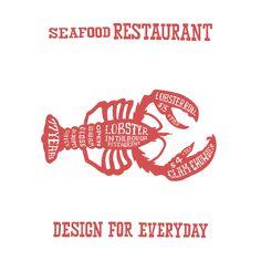 ボストン ベースボールロブスター Winery Logo, Typography Logo, Logos, Fresh Lobster, Seafood Restaurant, Clams, Under The Sea, Fish, Phuket