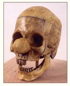 Vik Muniz, Clown Skull, from the Relic Series,