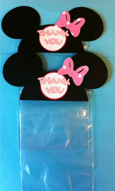 Minnie Mouse Ears Treat / Party Favor Thank You Goodie by natebarn. $18.00 USD, via Etsy.