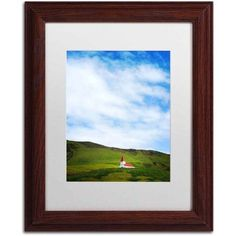 Trademark Fine Art 'Vik Church' Canvas Art by Philippe Sainte-Laudy, White Matte, Wood Frame, Size: 11 x 14, Multicolor