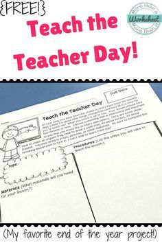 Teach the Teacher Day. I usually planned it for one of the last days of school, but not THE last day. Each student gets to teach a lesson of his or her choice. They are the expert. 5th Grade Classroom, Classroom Fun, Classroom Activities, Future Classroom, Teaching Activities, Physical Activities, Professor, End Of School Year, Middle School