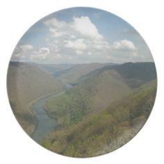 Customizable Grand View Party Plates!  #Appalachian #photography & #art #zazzle #store #gifts #customize #West #Virginia http://www.zazzle.com/dww25921*